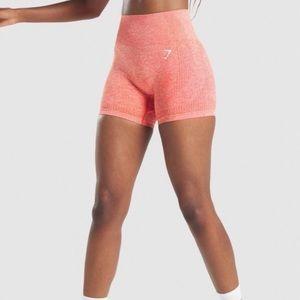 NWT Gymshark Vital Seamless Shorts in Heat Red